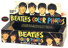 Bubble Gum with Color Photos / OH MY GOSH!  I'D KILL FOR THIS BOX AND CARDS!  I DON'T EVER REMEMBER SEEING THIS WHEN I WAS GROWING UP!