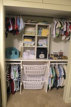 We could use the laundry basket storage in the master closet instead of the nursery.