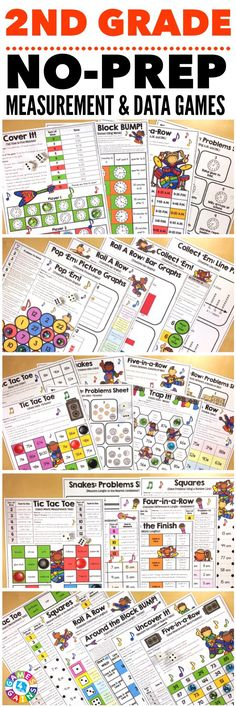 """""""Kids are LOVING these games during rotation time to reinforce standards."""" This 2nd Grade Measurement and Data Games Pack includes 26 differentiated games for practicing telling time to five minutes, interpreting different types of graphs, counting money, measuring lengths, and much more! These games support the 2nd grade CCSS measurement & data standards {2.MD.1, 2.MD.2, 2.MD.3, 2.MD.4, 2.MD.5, 2.MD.6, 2.MD.7, 2.MD.8, 2.MD.9, 2.MD.10}."""