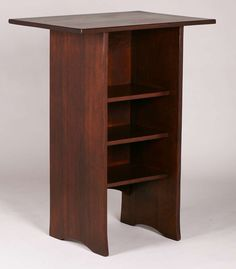 Extremely rare Gustav Stickley lectern.  Probably custom-made.  Signed with large red decal.  Refinished.