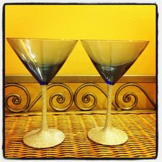 New Years Martini Glasses by kraftymckrafterson on Etsy, $18.00