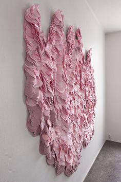 Textile art by Hanne Friis