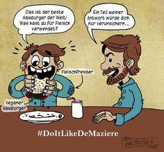 #DoItLikeDeMaziere, #vegan, #vegetarisch, #Comic, #Sofayoga