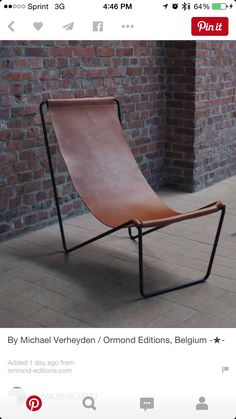 Ormond Editions * The culture of exclusive design * :: Seating Iron Furniture, Leather Furniture, Industrial Furniture, Modern Furniture, Home Furniture, Furniture Design, Creation Deco, Vintage Design, Furniture Inspiration