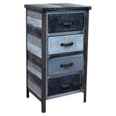 DIY pallet nightstand Idea using Blue chalk paint - Found it at Wayfair - Soho 4 Drawer Nightstand in Blue
