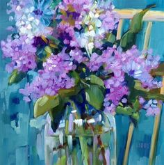 """Daily+Paintworks+-+""""Backyard+Beauty""""+-+Original+Fine+Art+for+Sale+-+©+Libby+Anderson"""