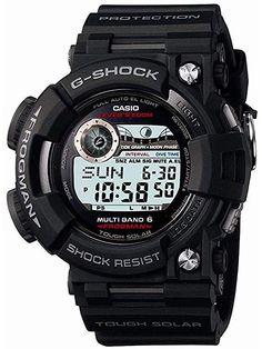 c8192f4ea01 Casio G-Shock Frogman Digital Dial Black Resin Solar Quartz Mens Watch  GWF1000-1