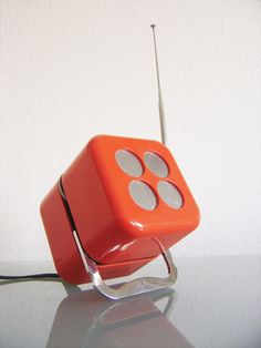 Kultobjekt Würfelradio SIEMENS Rk 501 Alpha 2 MARIO BELLINI Cube Radio 60er/70er