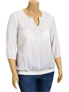 Old Navy | Women's Plus Embroidered Boho Tops