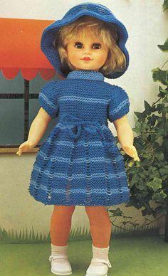 Robe et chapeau Pour poupées de 45 (50-55) cm - http://www.brico-line.com/fr/index.php/ouvragesk2/item/1085-robe-et-chapeau