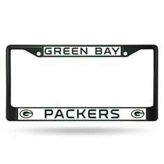Green Bay Packers Imprint License Plate - Green