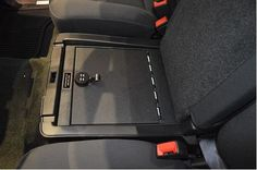 Console Vault GMC Sierra 1500/2500/3500 Under Seat Console: 2014 - 2015 #Gunsafes.com