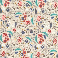 124220 Forest Floor | Khaki from Wildwood by Elizabeth Olwen for Cloud9 Fabrics