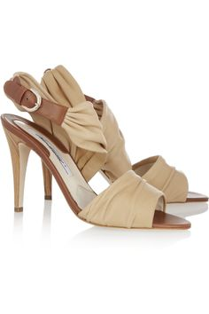 Erlinda ruched leather sandals  by Brian Atwood