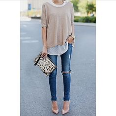 Easy, comfortable, and still chic. We love neutrals.