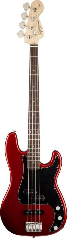 Squier Affinity Series basses represent the best value in bass guitar design. The Affinity Series Precision Bass PJ rocks classic tone and comfortable feel, and new for 2013 are a two-color headstock