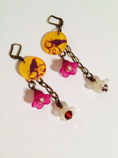 Spring Fling Acrylic Earrings by GemJelly on Etsy