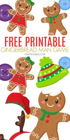 gingerbread man game for kids free printable Christmas activity