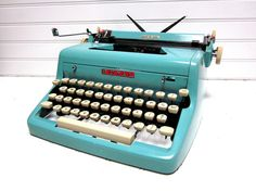 SALE Vintage Typewriter Turquoise Royal by GoodBonesVintageCo, $420.00