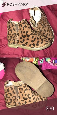 3adc3fae141a Leopard booties Leopard booties! Perfect for any fall  winter outfit! GAP  Shoes Boots