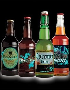 Must have for a spooky party. Love how the names match the original drinks. #beer #halloween