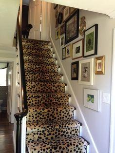 Upholstered stairway