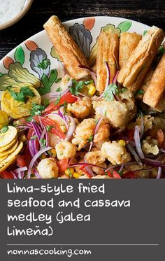 Lima-style fried seafood and cassava medley (jalea limeña) | Use any fresh, flavorsome fish and any type of seafood for this recipe, provided it is very fresh.