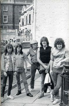 AC/DC in Cambridge, England. 1984.