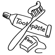 Free Brush Teeth Clipart Of Brushing Coloring Pages Clip Art Image For Your Personal Projects Presentations Or Web Designs