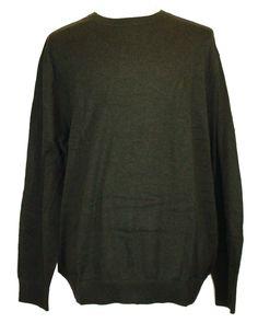 Nautica Mens Sweater Crewneck Cotton Blend Long Sleeve Green Sz XXL 2XL NEW NWT #Nautica #Crewneck