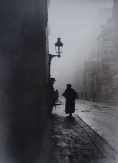 Emile Gos    L'aveugle de la rue de la Seine, Paris 1911