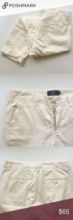 Never Worn White J.Crew Chino Brand new J.Crew chinos. Cream colored really light weight cotton. J. Crew Pants Trousers