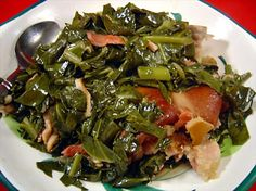 Crock Pot Collard Greens - Made this in the crock pot with a smoked turkey leg. Yum!