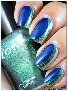 awesome nail look using Zoya Nail Polish. http://www.zoya.com