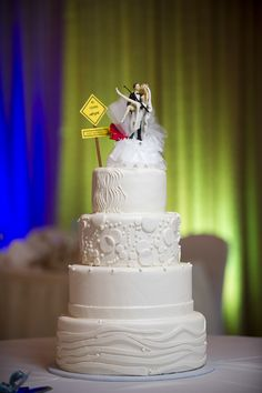 Fishing theme wedding cake topper