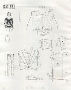 Japanese book and handicrafts - Lady Boutique 2015 Bodice Pattern, Tunic Pattern, Clothing Patterns, Dress Patterns, Japanese Sewing Patterns, Sewing Blouses, Modelista, Fashion Forms, Japanese Books