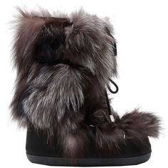 Designer Clothes, Shoes & Bags for Women Fox Shoes, Furry Boots, Moon Boots, Apres Ski, Fox Fur, Winter Boots, Dsquared2, Footwear, Polyvore