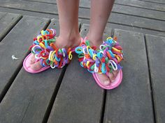 Easy Flip Flop activity - we did this at the girl scout end of the year party.  So easy and the girls had a blast making them!!!