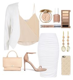 """""""Neutral Spring"""" by jilld727 ❤ liked on Polyvore featuring Chelsea Flower, Stuart Weitzman, River Island, Givenchy, Chantecaille, Essie, Urban Decay, Panacea and Casetify"""