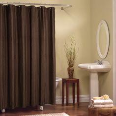 Maytex Chadwell Fabric Shower Curtain In Red     Shower Curtains U0026  Accessories   Bed U0026 Bath