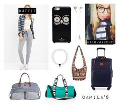 """""""AIRPORT (Bad Blood)"""" by inxzrose on Polyvore featuring Forever 21, Kate Spade, Victoria's Secret PINK, Quiksilver, Bric's and Frends"""