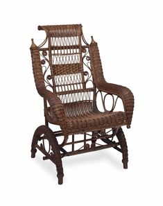 A VICTORIAN WICKER ROCKING CHAIR, LATE 19TH/EARLY 20TH CENTURY