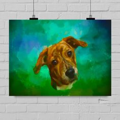Custom dog paintings - Puppy paintings - dog portraits - dog poster - realistic pet painting from your photos - Acrylic watercolor