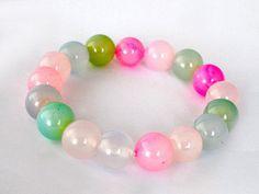 10mm Healing Agate Bracelet Agate Bead Bracelet by RhodopeMinerals