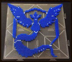 Team Mystic has joined!  Not gonna lie, I love this color blue  Only one more team left to make!  #pixel #pixelart #perler #perlerbeads #beadsprite #beadart #pokemon #pokemongo #teammystic #articuno #teamarticuno #teamblue #otakubeadsmith #spriteart