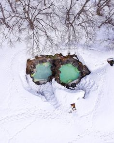How about a hot spring in the snow? Ougon no yu in Tsubame Onsen, Myoko. Snowboarding, Skiing, Visit Japan, Never Stop Exploring, Hot Springs, Alps, Bed And Breakfast, The Great Outdoors, Adventure
