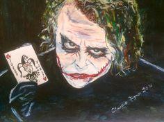 """Joker"" Acryl auf Papier"