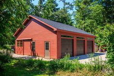Lean To Shed Plans, Shed Building Plans, Garden Storage Shed, Diy Shed, Metal Pole Barns, Cheap Sheds, Firewood Shed, How To Build Steps, Clerestory Windows