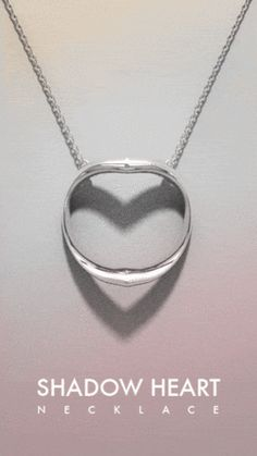 Shadow Heart Innovative necklace casts silhouette of the heart symbol. – OBJECTOUS