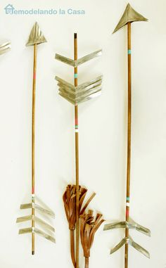 DIY rustic arrows to decorate your home.